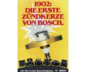 1902 - The first spark plug with high-voltage magneto is developed by Bosch and revolutionizes motoring.